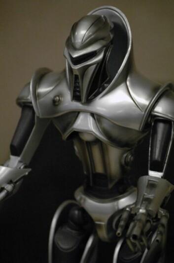 En Cylon Centurion fra Battlestar Galactica. (Illustrasjon: Wikimedia Commons)