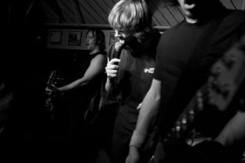 Turdus Musicus, Tromsøs mest kjente hardcore-band. Her fra konserten til inntekt for årets TV-aksjon. (Foto: Maja Sojtaric)