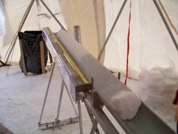 Iskjerner fra Svalbard er et arkiv over fortidens klima. (Foto: Sviceclim)