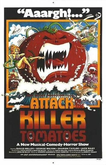 """""""Filmplakaten til """"Attack of the killer tomatoes"""" fra 1978. Se lisens."""""""