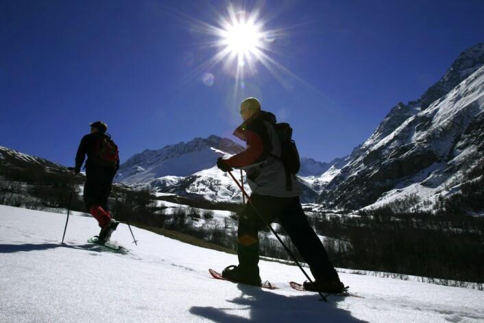"""""""UV-strålingen er ekstra kraftig på påskefjellet på grunn av all snøen som reflekterer sollyset. Illustrasjonsfoto: www.colourbox.no"""""""