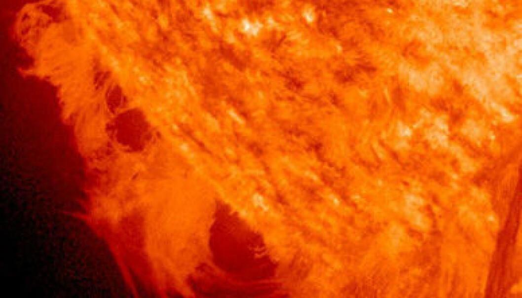 Gigantisk utbrot på sola
