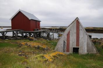 Ærfuglhus på øyværet Lånan i Vega kommune. (Foto: Morten Günther)