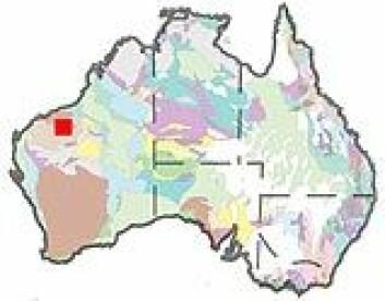 """""""Pilbara-regionen merket med rød firkant"""""""