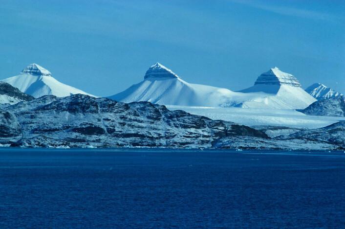 """""""Forskerne ser på Kongsfjorden som et mikrokosmos av hva som skjer med det arktiske økosystemet når temperaturen stiger og andelen atlantiske vann øker. (Foto: Thor S. Larsen, Norsk Polarinstitutt)"""""""