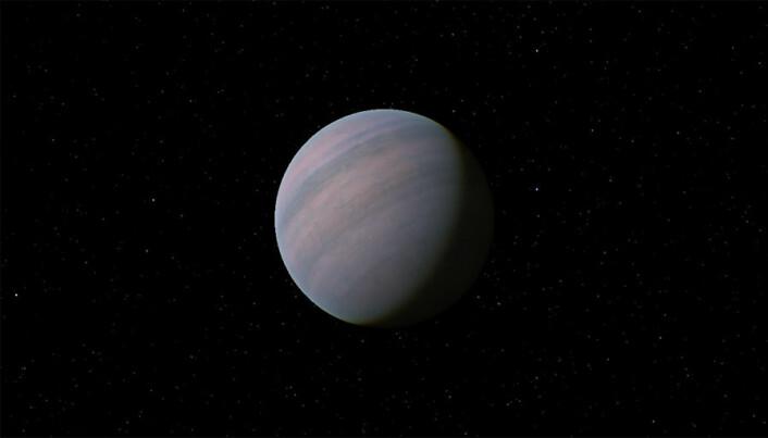 En illustrasjon av hvordan planeten Gliese 581 d kan se ut. (Foto: Tyrogthekreeper)