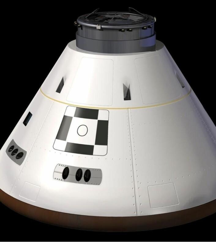 Orion-kapselen blir fraktet opp i rommet av Ares, og er fartøyet som amerikanske astronauter vil befinne seg i når de en dag skal lande på månen eller Mars. (Foto: NASA)