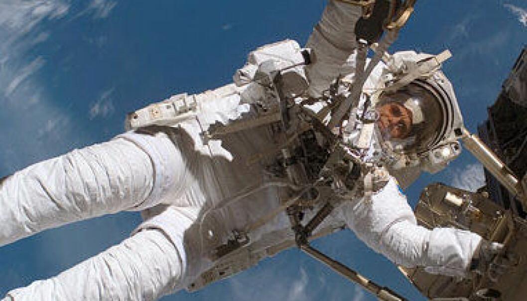 Christer Fuglesang er astronaut hos European Space Agency (ESA). Dette bildet er fra desember 2006. (Foto: NASA)