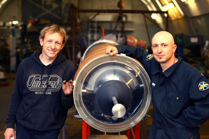 Rakettbyggerne Peter Madsen og Kristian von Bengtson. (Foto: Copenhagen Suborbitals)