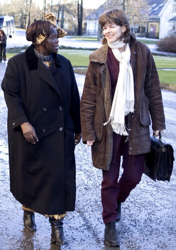 """Ruth Haug med Nobelprisvinner Wangari Maathai i 2005"""