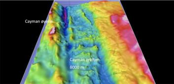 En illustrasjon av Cayman-grøften, som på det dypeste måler rundt 6000 meter.