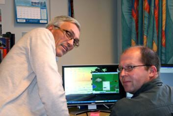 Bjarne Foss (t.v.) og Tor Ivar Eikaas. (Foto:Synnøve Ressem)