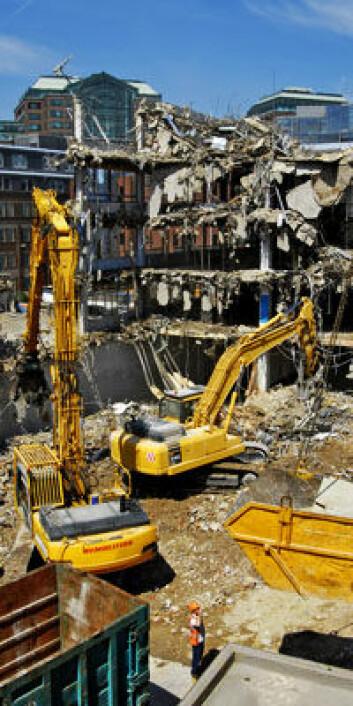 Miljødepositum skal finansiere behandling av sluttavfall ved riving av bygg.