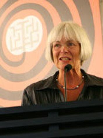 Tora Aasland under fjorårets åpning av Forskningsdagene. Foto: Sidsel Flock Bachmann