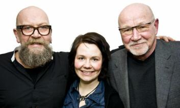 Fra venstre: Olav Brastad fra Bellona, Kristin Holthe fra SINTEF Byggforsk og Tarald Lundevall fra Snøhetta. (Foto: Andreas B. Johansen)