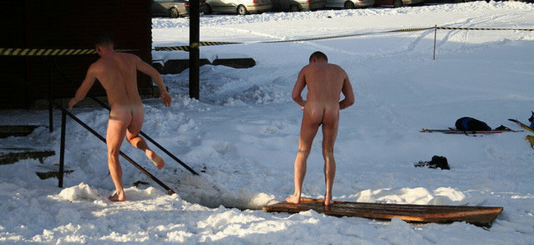 Det finnes omkring 22.000 vinterbadere i Danmark. Omkring halvparten av dem går i vinterebadeklubber, mens resten bader privat. Kilde: Rådet for Større Badesikkerhed. (Foto: Lauri Väin)