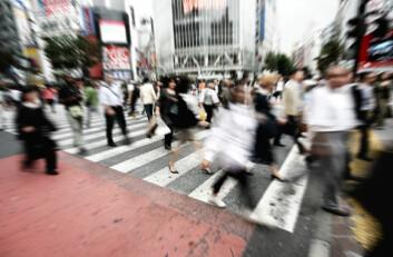 Folksomt i japansk fotgjengerovergang. (Foto: iStockphoto)