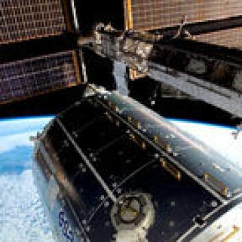 Romstasjonen med Columbus. Foto: NASA
