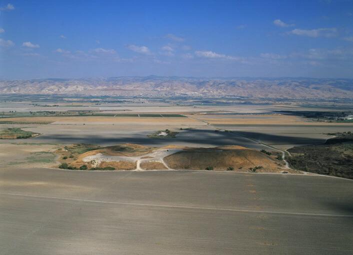 Fortidsbyen Tel Rehov ligger i Jordandalen i det nordlige Israel, rett ved den okkuperte Vestbredden. (Foto: Hebrew University)
