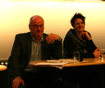 Jens Erik Kristensen, Danmarks Pædagogiske Universitet og Rikke Pedersen, Universitetet på Island. (Foto: Randi M. Solhaug)