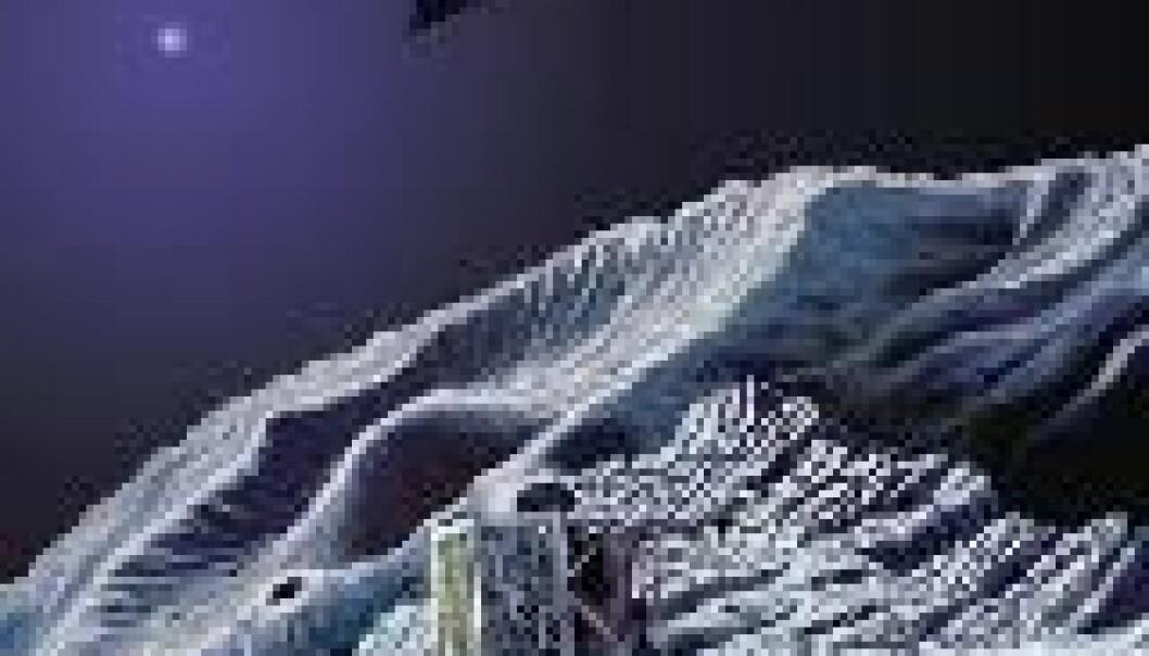 """Landingen på komet Churyumov-Gerasimenko. (Illustrasjon: ESA)"""