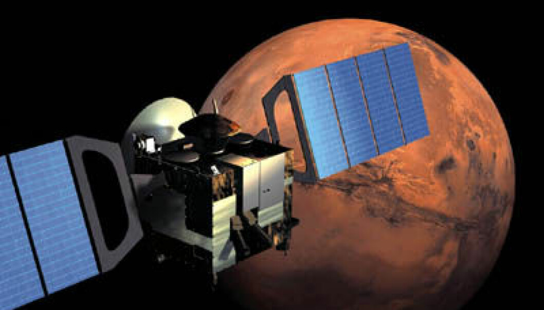"""Mars Express. Illustrasjon: ESA"""