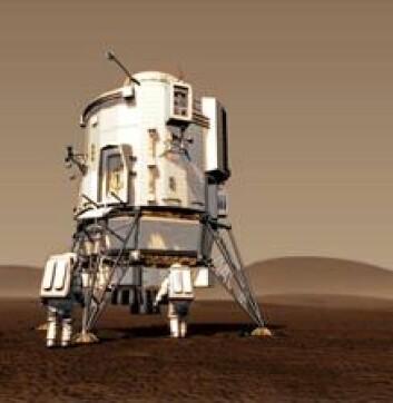 En romferd til Mars kan komme til å vare i mer enn 2,5 år. (Illustrasjon: ESA)