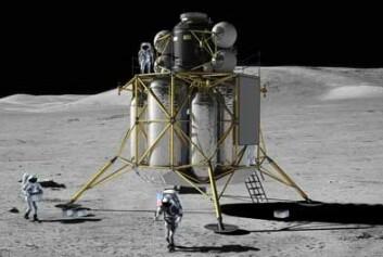 Månelanderen Altair har ingen framtid. (Illustrasjon: NASA)
