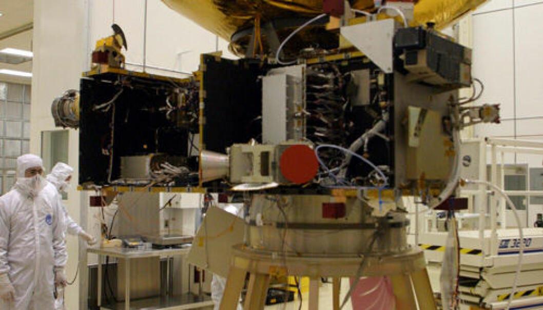"""""""Antennen på New Horizons får en sjekk."""""""