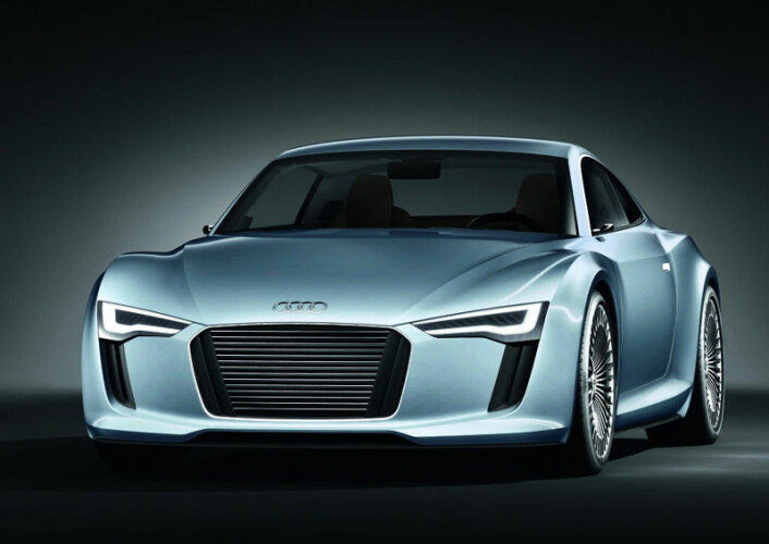 Audi E-Tron har to elmotorer, en ved hvert bakhjul. De yter tilsammen 204 hestekrefter. Rekkevidde: 250 kilometer. (Illustrasjon: VW/Møllergruppen)