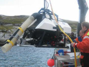 Miniubåten er en prototype. (Foto: Nofima)