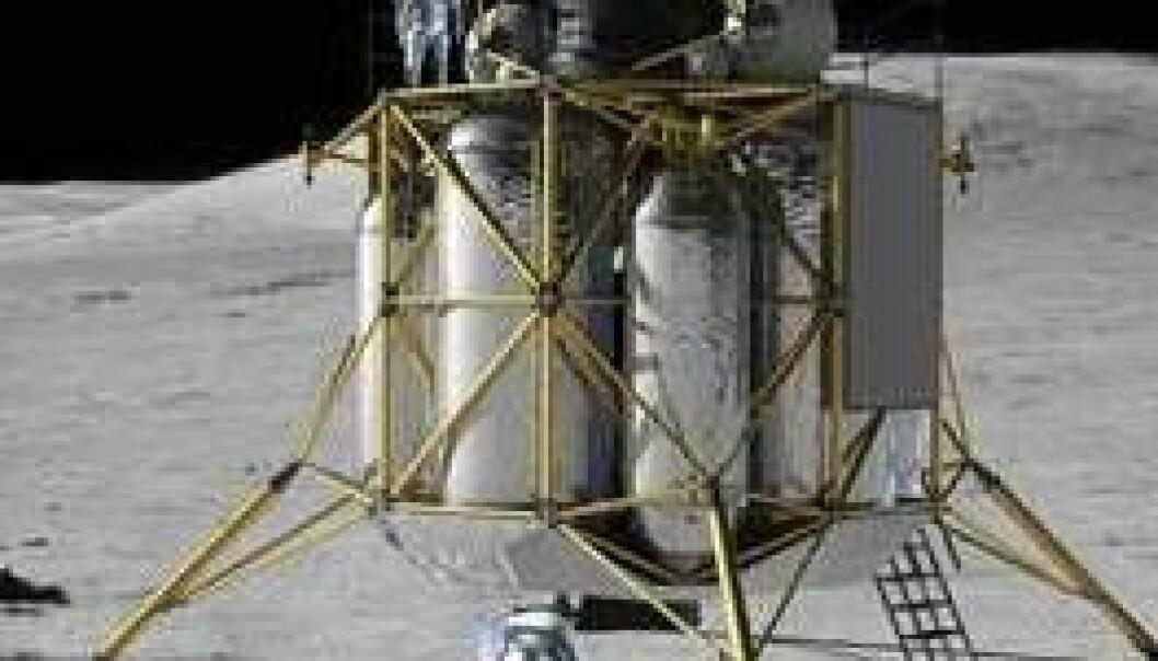 Månelanderen Altair. (Illustrasjon: NASA)