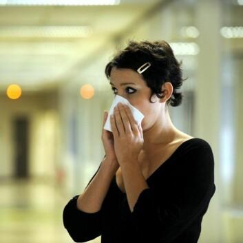 Du risikerer å bli forkjølet hvis det kjører hardt på hjemme eller på jobben. Stress svekker nemlig immunforsvaret. (Foto: Colourbox)