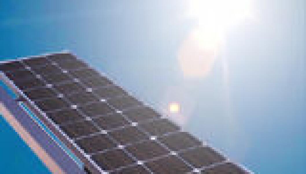 Britiske forskere utvikler nye solpaneler