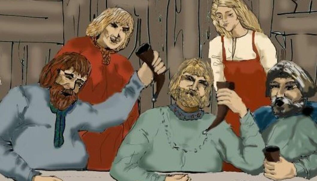 Julgilde i vikingtiden (utsnitt) Ill.: Aud Beverfjord.