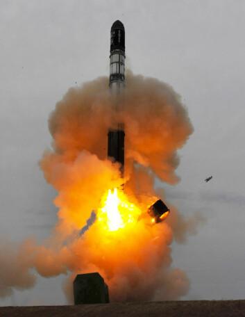 Cryosat-2 skytes opp 8. april 2010 med en Dnepr-rakett fra Baikhonur-kosmodromen i Kasakhstan klokka 13:57 UTC, 15:47 norsk sommertid. (Foto: ESA - S. Corvaja, 2010)