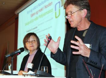 Elisabeth Rogg (til venstre) og Øystein Gullvåg Holter. (Foto: Kristin Engh Førde)