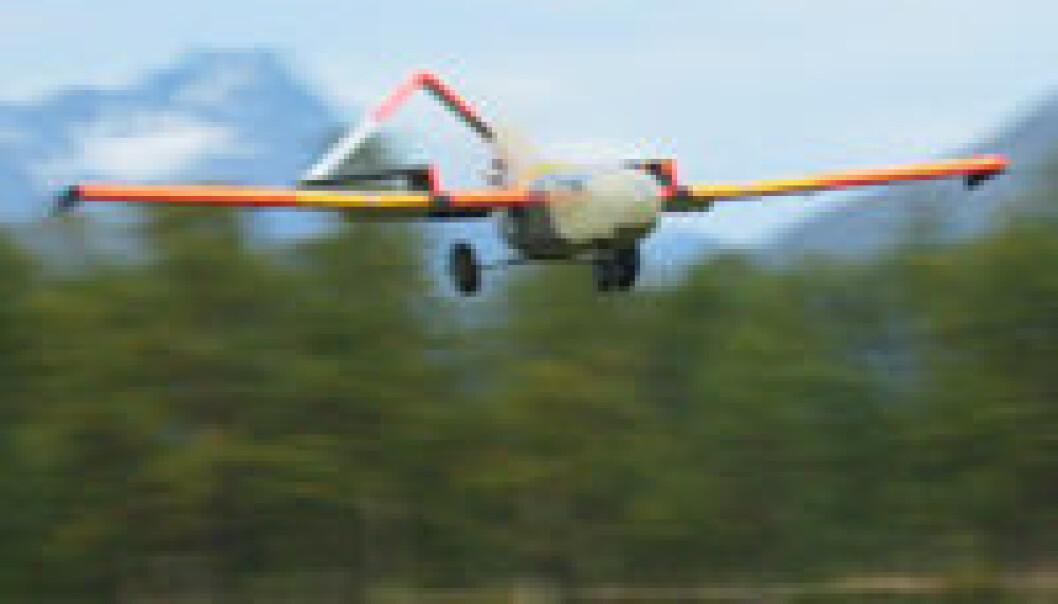 """""""Det nye UAV-flyet kan blant annet brukes til å telle isbjørn, måle snømengde og observere kraftlinjer."""""""