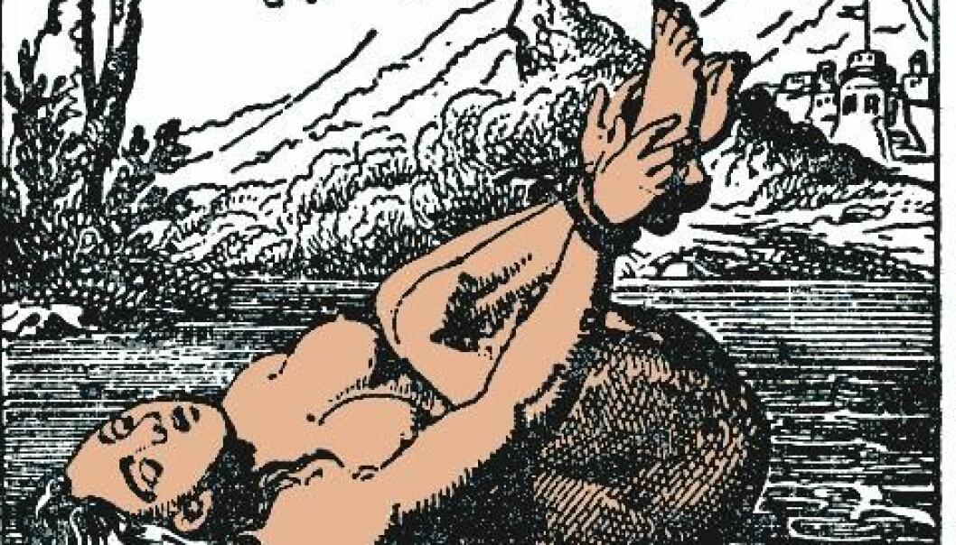 Vannprøven var et populært motiv både på tre- og kobberplater. Dette motivet antas å være fra før 1850.