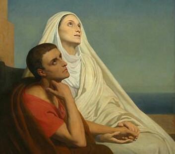Augustin og hans tålmodige mor Monika, skildret av Ary Scheffer i 1846.