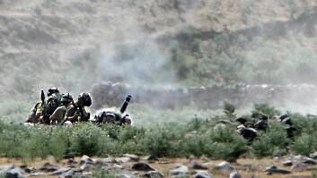 Soldater fra Telemark Bataljon på oppdrag i Afghanistan.