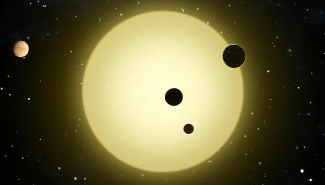 Kepler-11 (Illustrasjon: NASA)