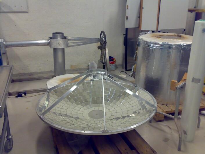 Her lages prototypen. (Foto: Hege Tunstad)