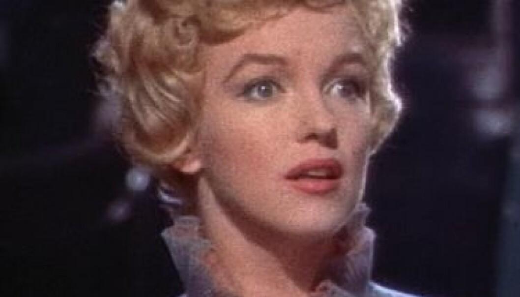 Skjermbilde av Marilyn Monroe fra forfilmen for filmen The Prince and the Showgirl, 1957