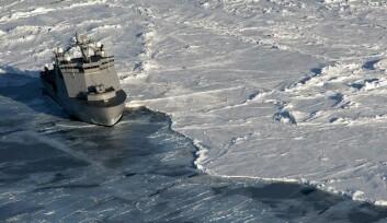 iAOOS Norway er et polarårprosjekt hvor målsettingen er å bidra til et bedre observasjonssystem for hav, is, atmosfære og biosfære. Her fra tokt med K/V Svalbard i Framstredet. (Foto: Rudi Caeyers, Norsk Fiskerihøgskole)
