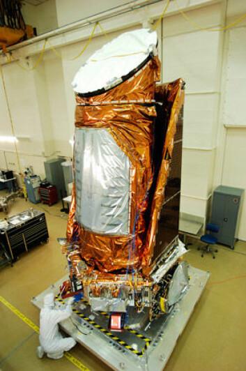 Kepler-teleskopet under bygging. (Foto: Ball Aerospace & Technologies Corp.)