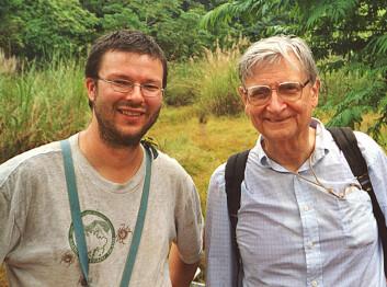 """""""Frode Ødegaard (t.v) sammen med professor Edward O. Wilson, som er offisiell beskytter av IBISCA. (Foto: Joseph Wright)"""""""