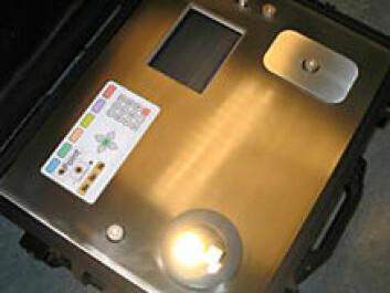 Punktmålingsinstrumentet QPoint fra Qvision montert i koffert. (Foto: Qvision)