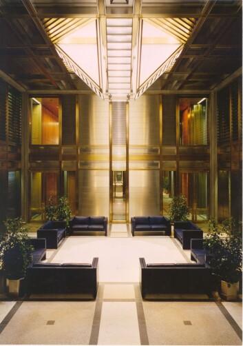 Speilhallen i Norges Banks hovedkontor. (Foto: Norges Bank)