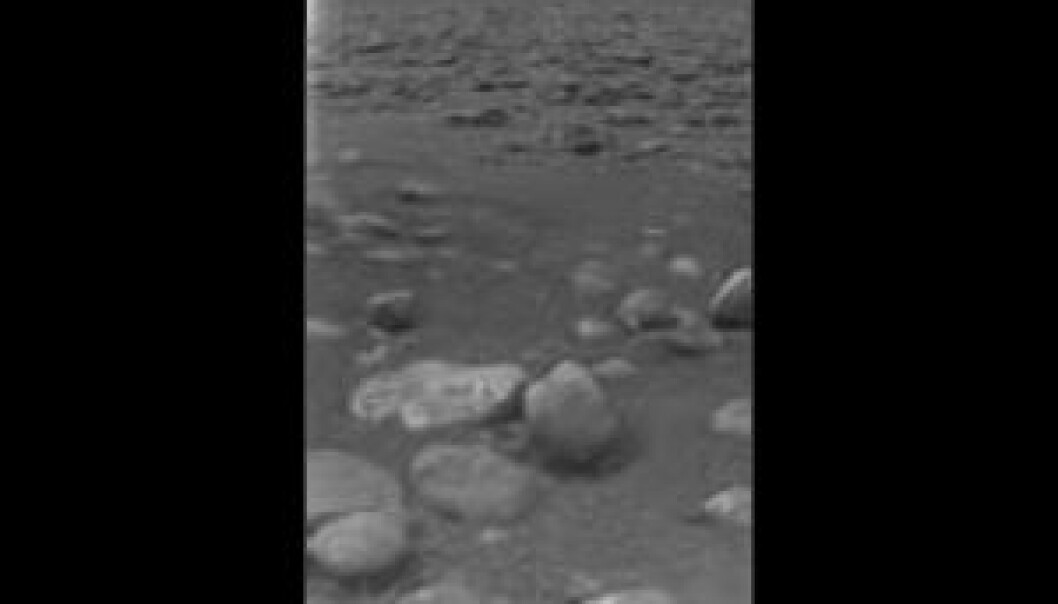 """Dette er Titan. (Foto: ESA)"""